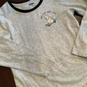 Old Navy long sleeved T. Puppy skateboard